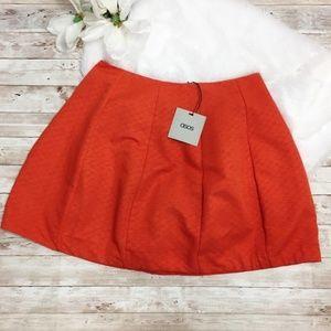 NWT Asos Orange Bubble Skirt Size 6